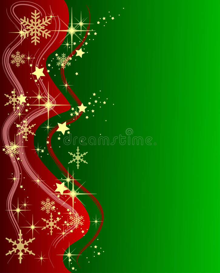 Download Green Christmas Background With Stars Stock Illustration - Image: 11273028