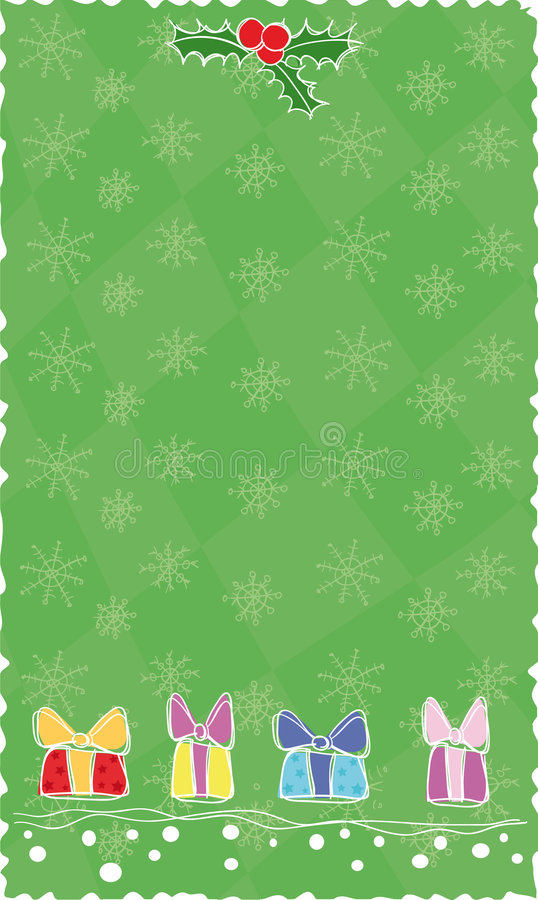 Download Green Christmas banner stock vector. Image of season, present - 6800374