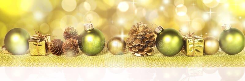 Green christmas decoraion royalty free stock image
