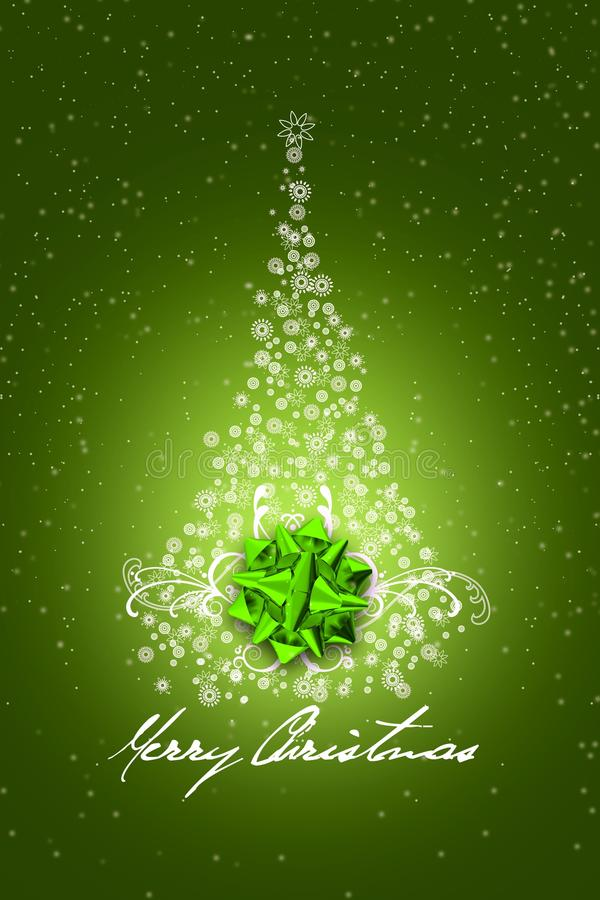 Green Christmas Design royalty free illustration