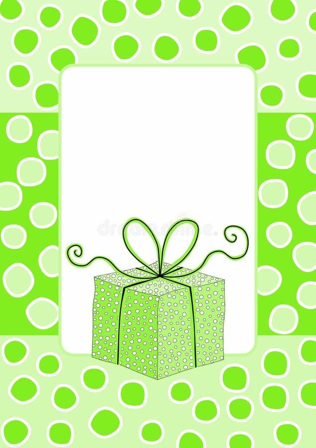 Green Christmas Gift Tag Greeting Card stock photography