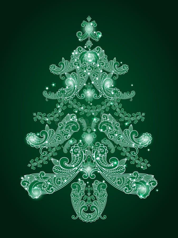Download Green christmas tree stock vector. Image of christmas - 21993299