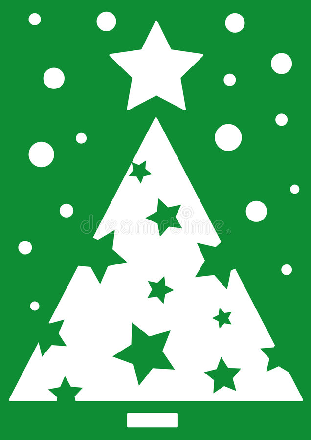Download Green Christmas tree stock vector. Image of green, stars - 6998844