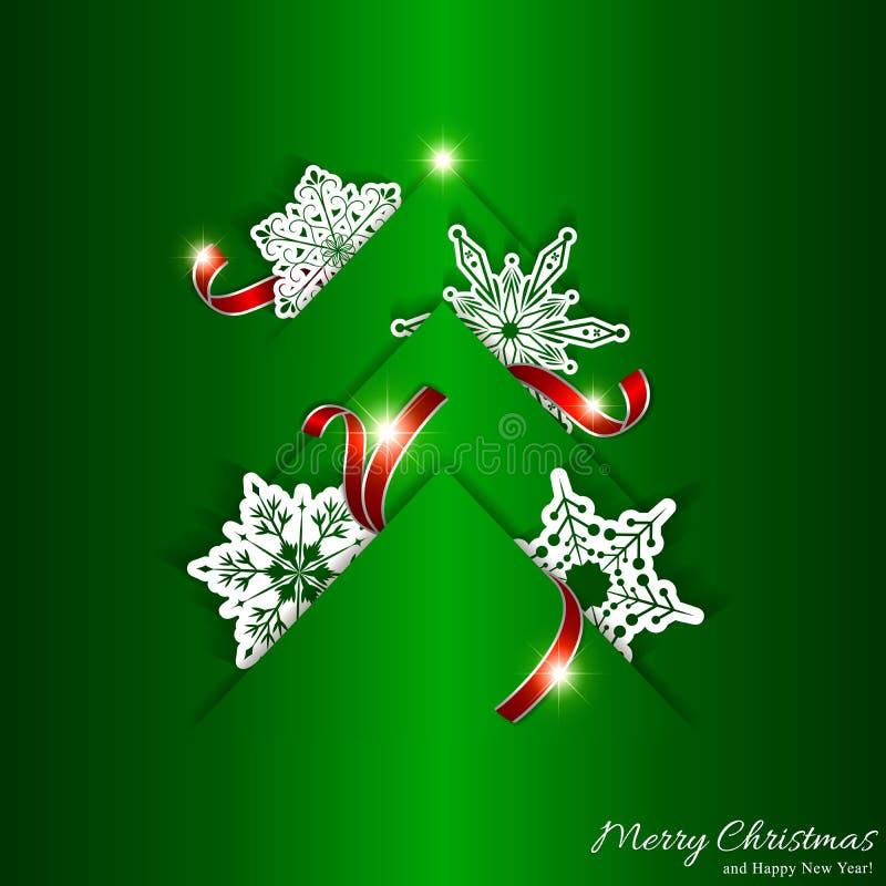 Green Christmas Tree Background royalty free stock photos