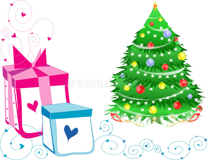 Download Green Christmas Tree And Gifts. Royalty Free Stock Photo - Image: 11701545