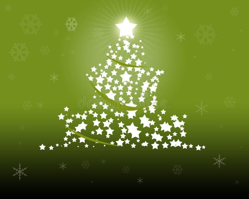 Green Christmas Tree illustration. Green Christmas - christmas illustration as digital high resolution stock illustration
