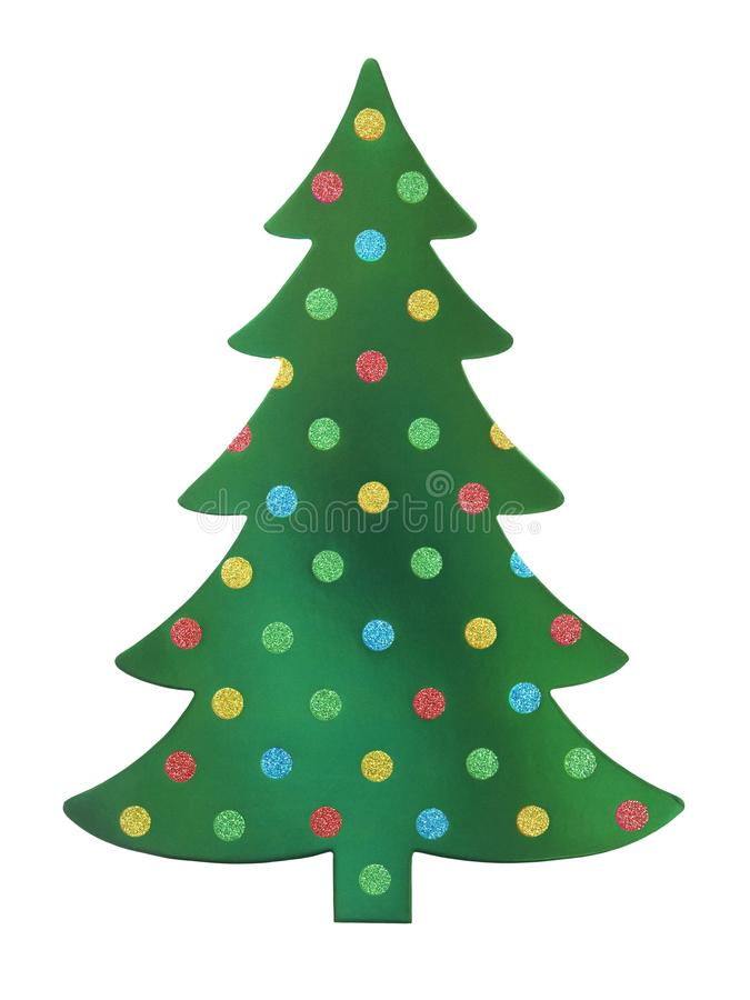 Green Christmas tree royalty free stock photo