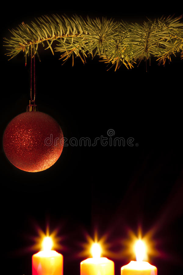 Free Green Christmas Tree With Baubles Royalty Free Stock Photography - 21490467