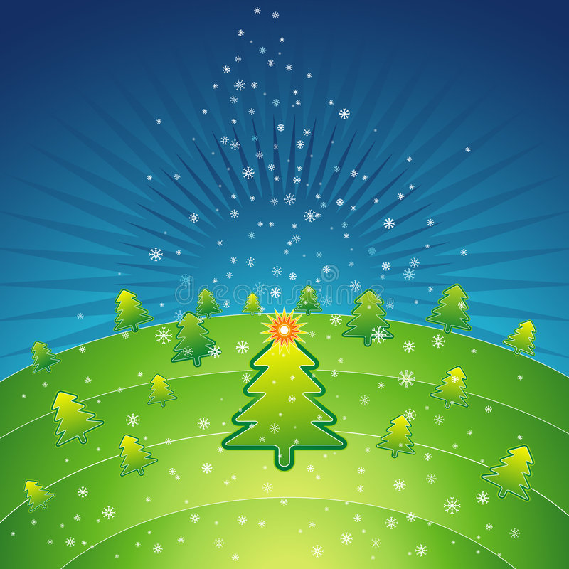 Green christmas,vector royalty free stock photo