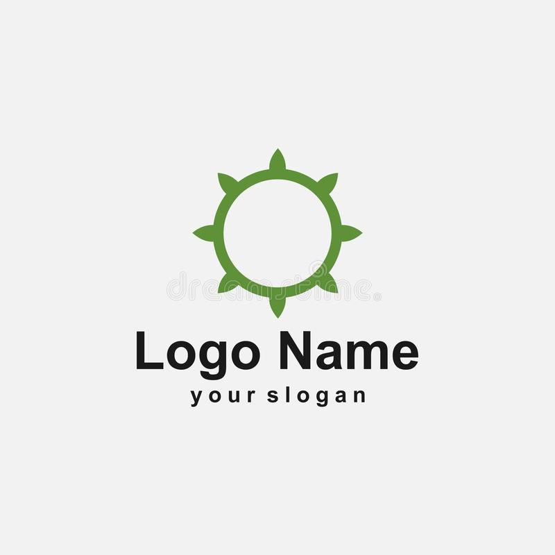 Green circle logo template stock illustration