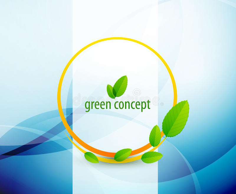 Green Circle Nature Concept Royalty Free Stock Image