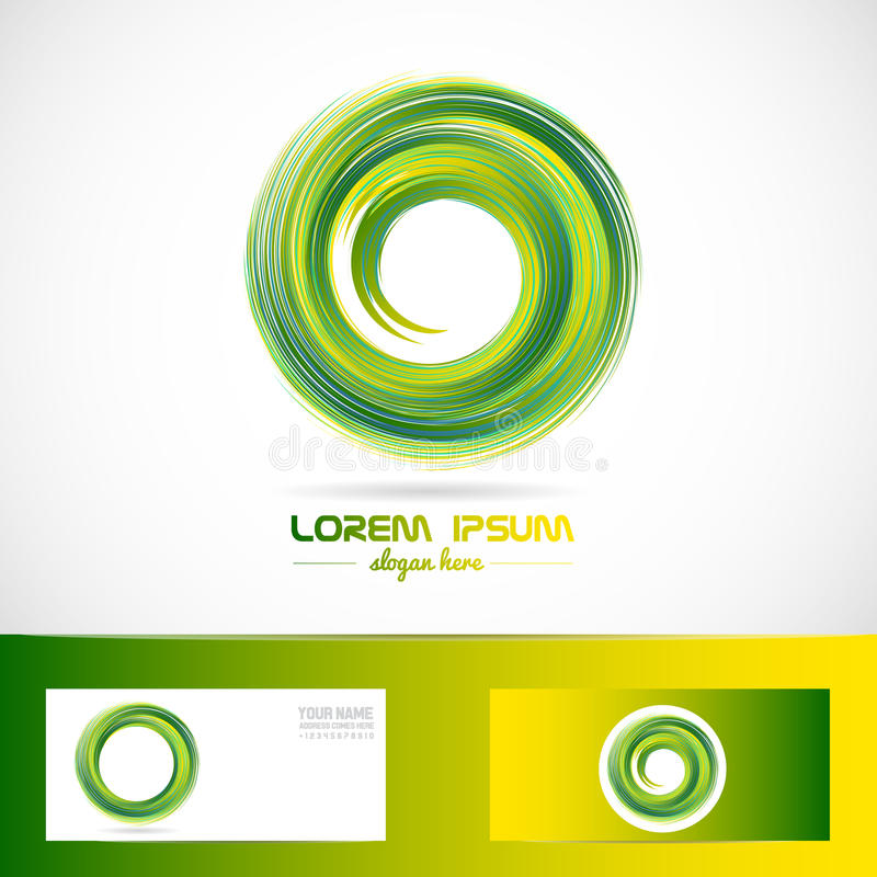Green circle swirl logo stock illustration