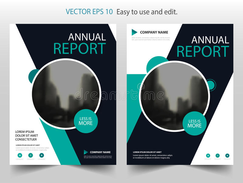 Green Circle Vector Brochure Annual Report Leaflet Flyer Template