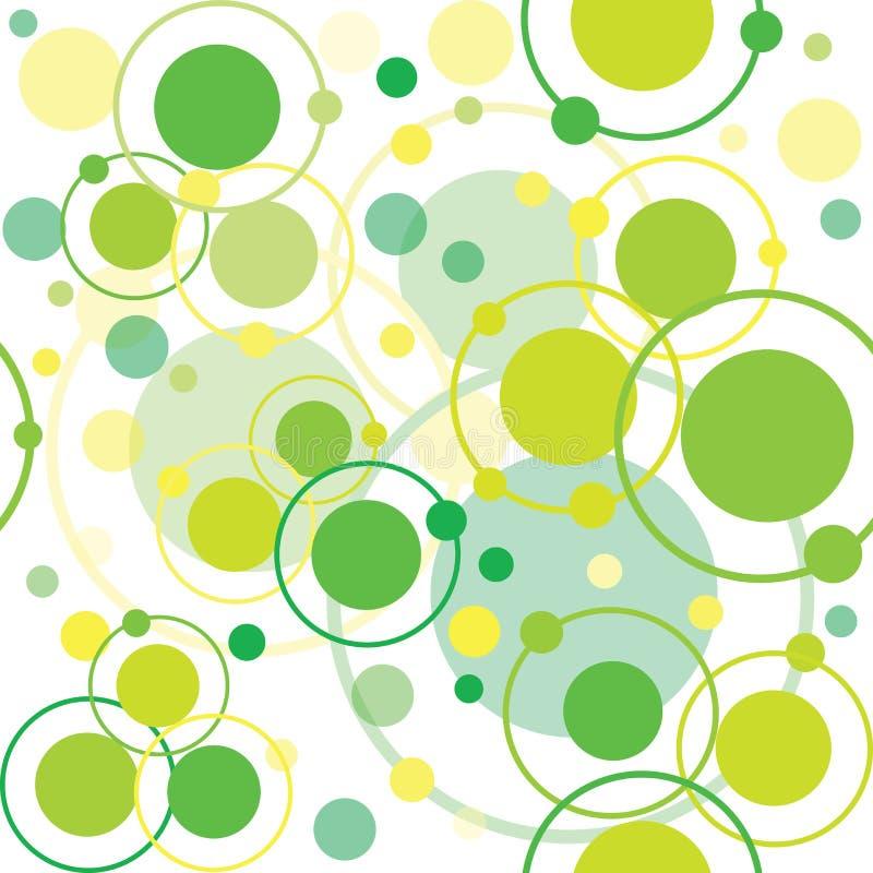 Green circles and dots pattern vector illustration