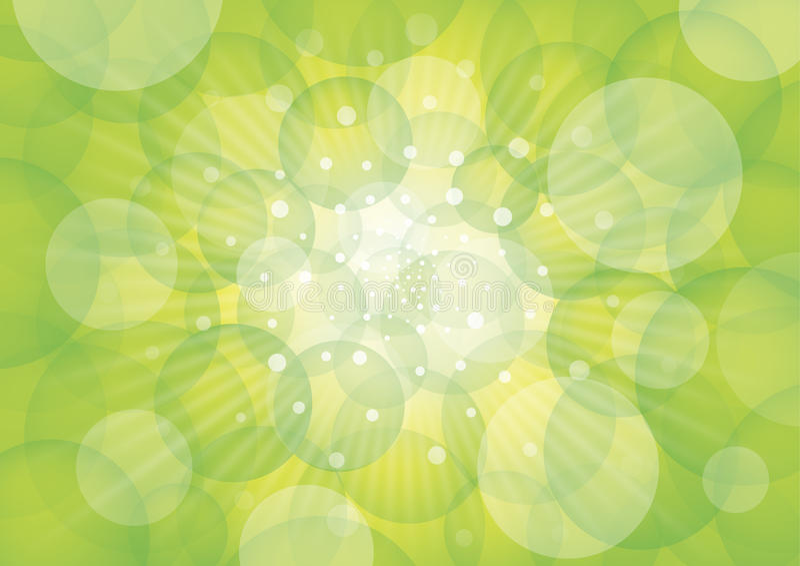 Green circles and light royalty free illustration