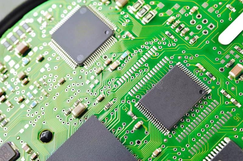 Green circuit board royalty free stock photo