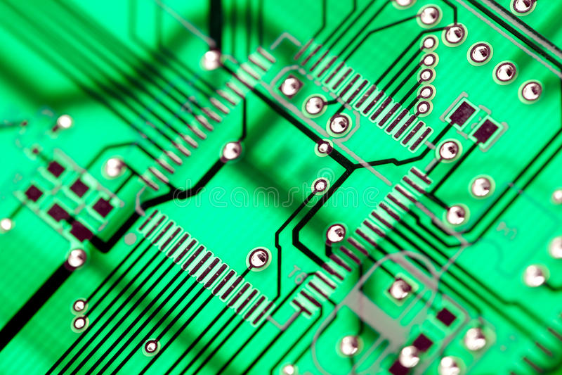 Download Green Circuit Board HiTech stock image. Image of board - 30587545