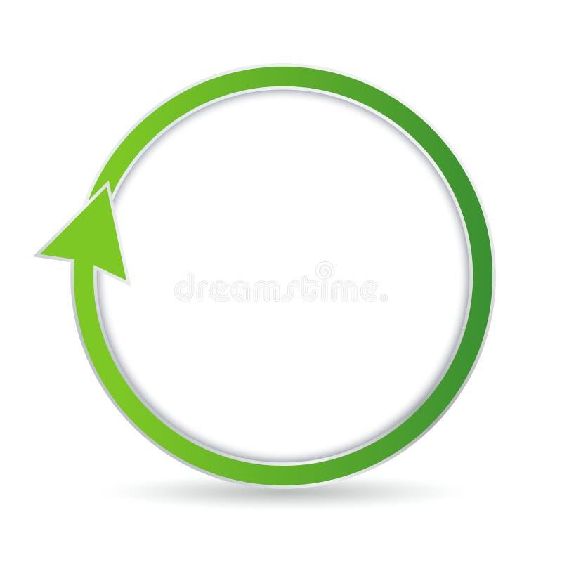 Green circular arrow vector illustration