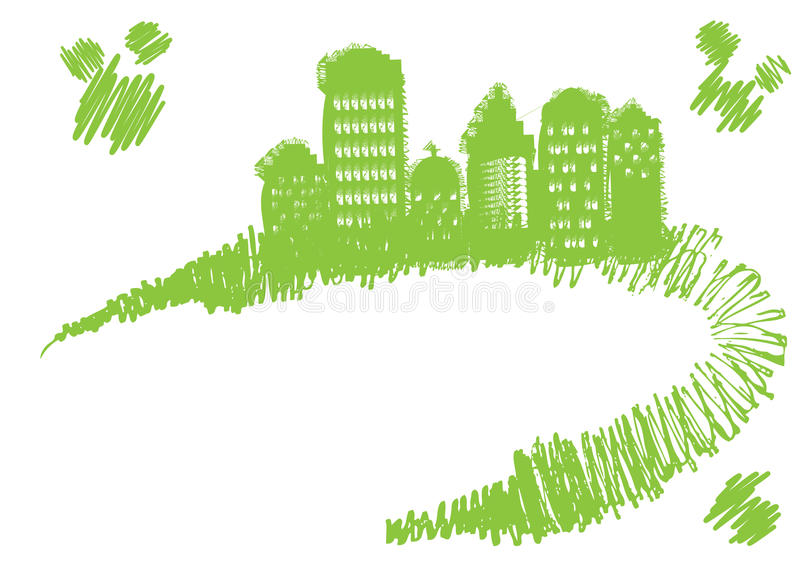 Download Green city stock vector. Image of illustration, business - 14576266