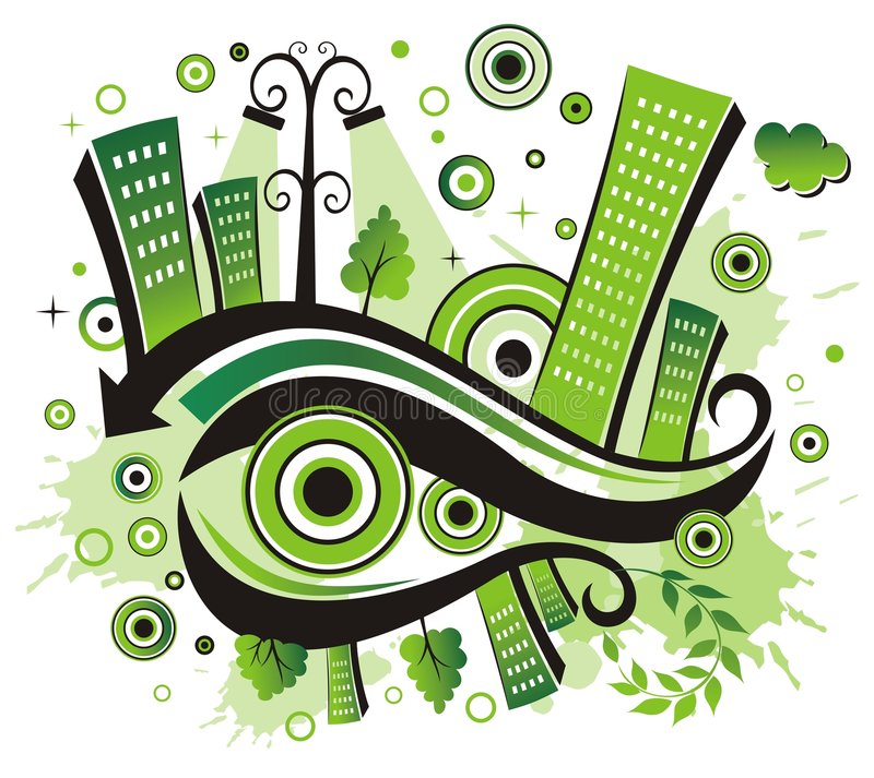 Green city. royalty free illustration