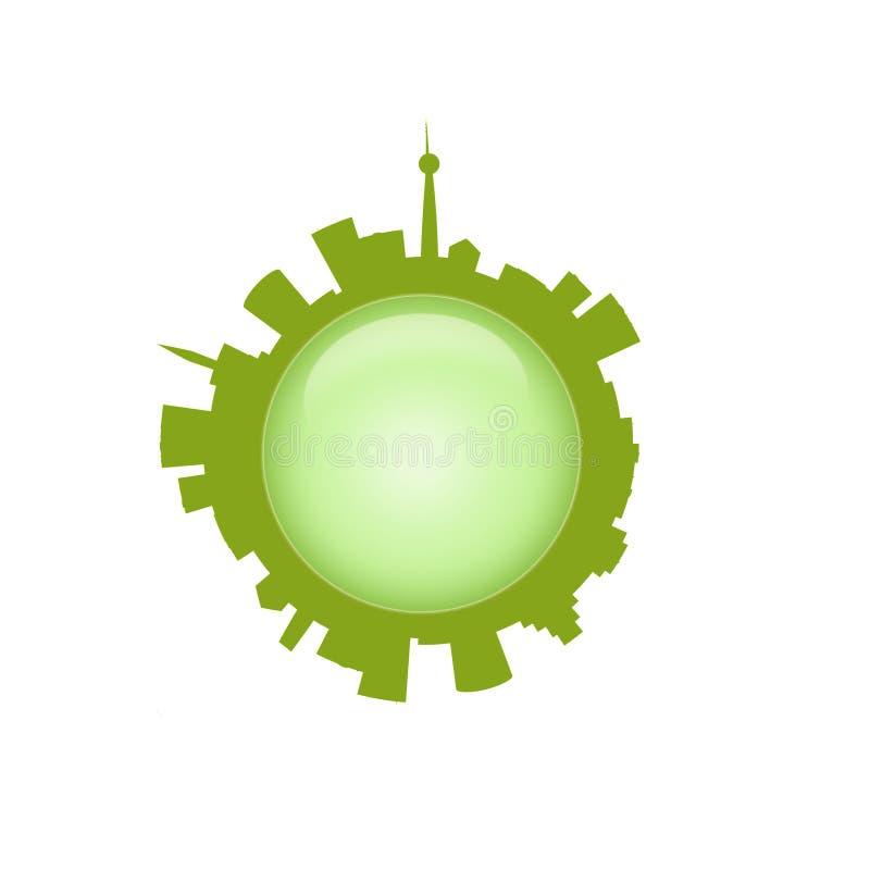 Green city icon vector illustration