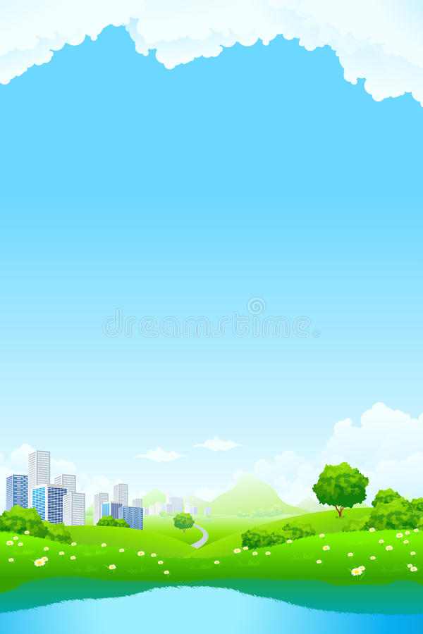 Green City Landscape stock images