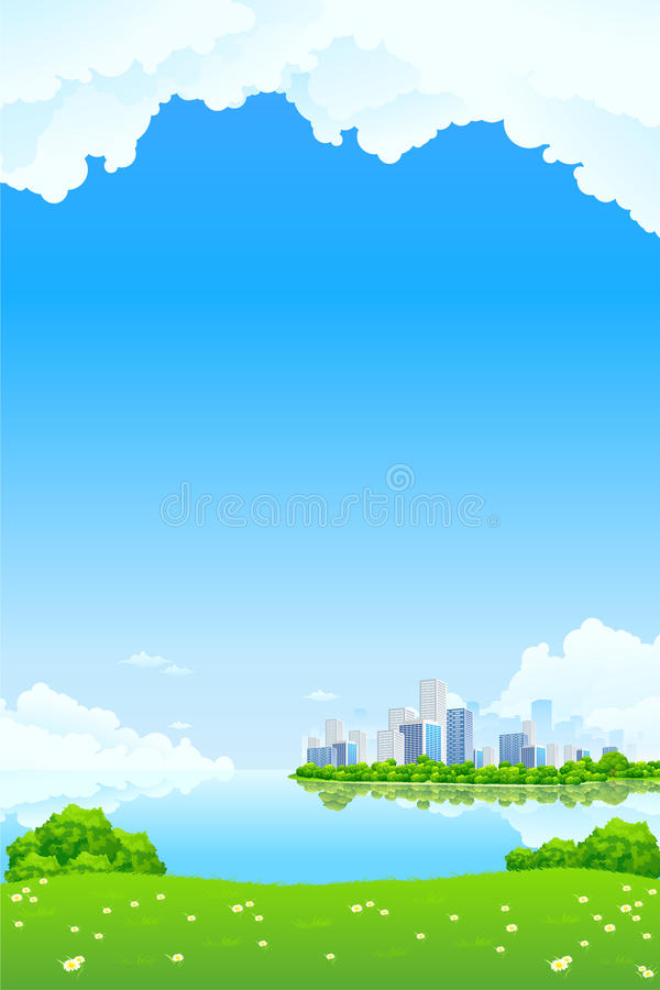 Green City Landscape royalty free stock image