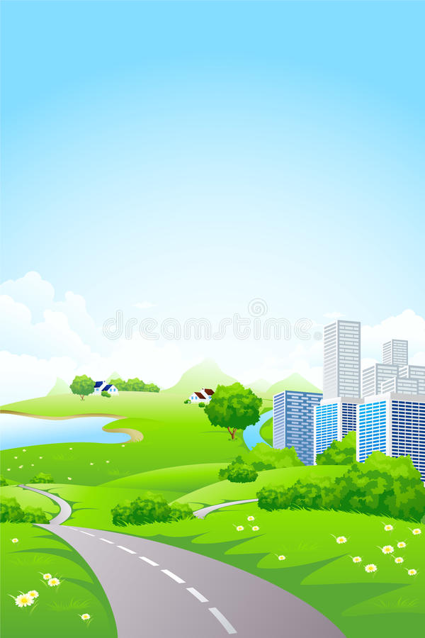 Green City Landscape stock photos