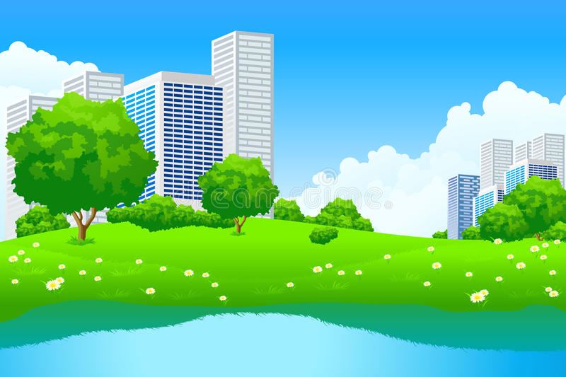 Green City Landscape royalty free stock images