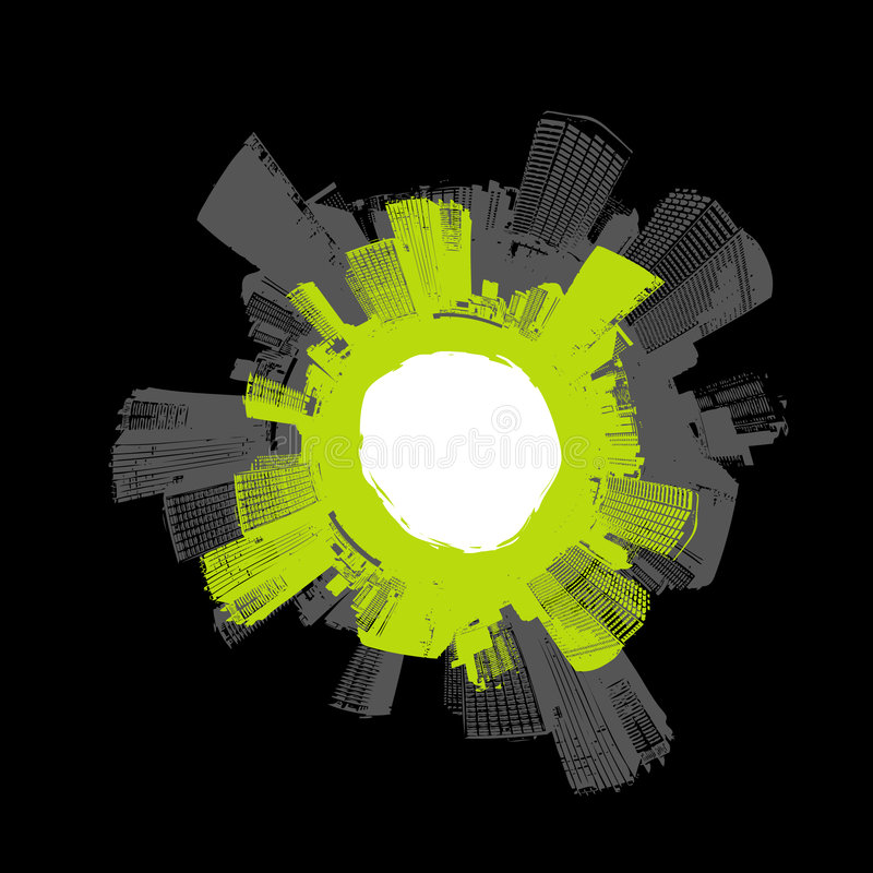 green city okręgu ilustracji