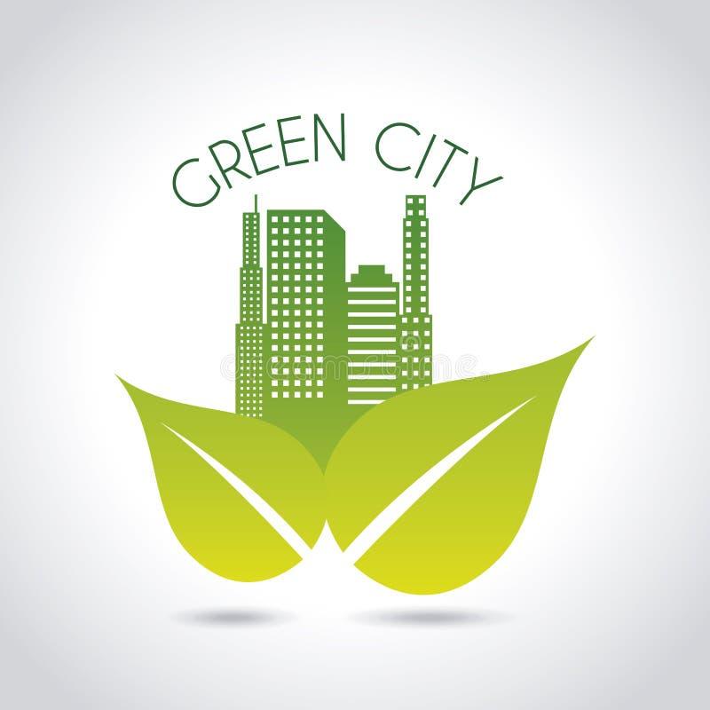 Green city royalty free illustration