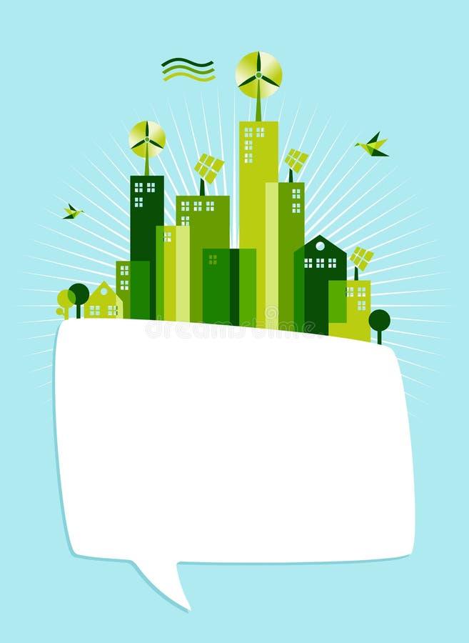 Eco green social media speech bubble royalty free illustration