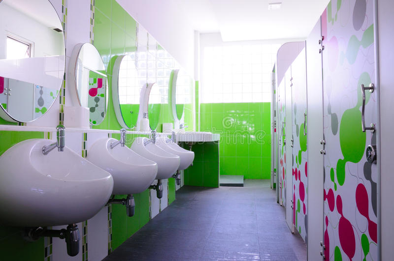 Green and clean child toilet stock image