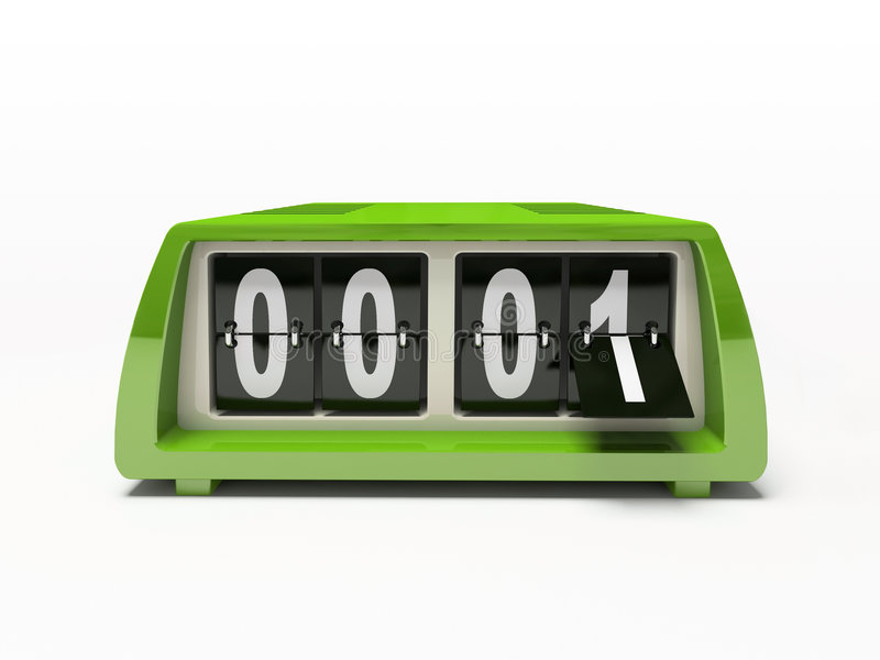 Green clock royalty free illustration