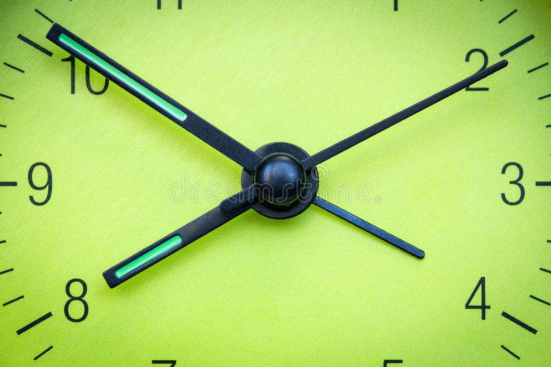 Green clock face stock images
