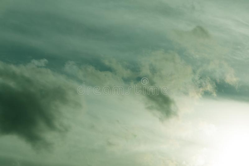 Green cloud texture background revival sky soft, royalty free stock images