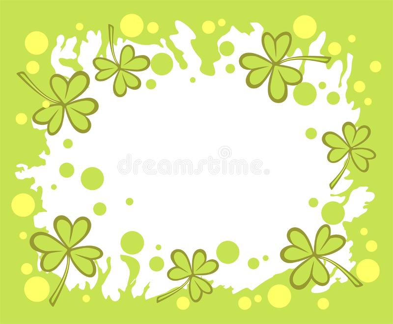 Green clover background stock photography