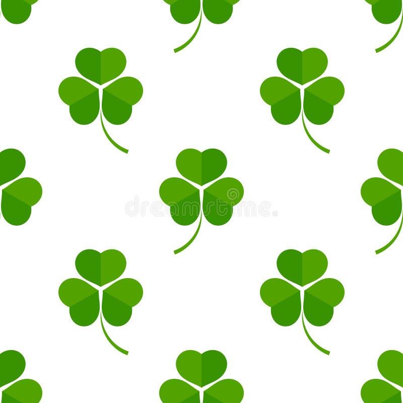 Green clover leaves stock illustration