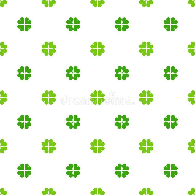 Green clover leaves pattern stock illustration