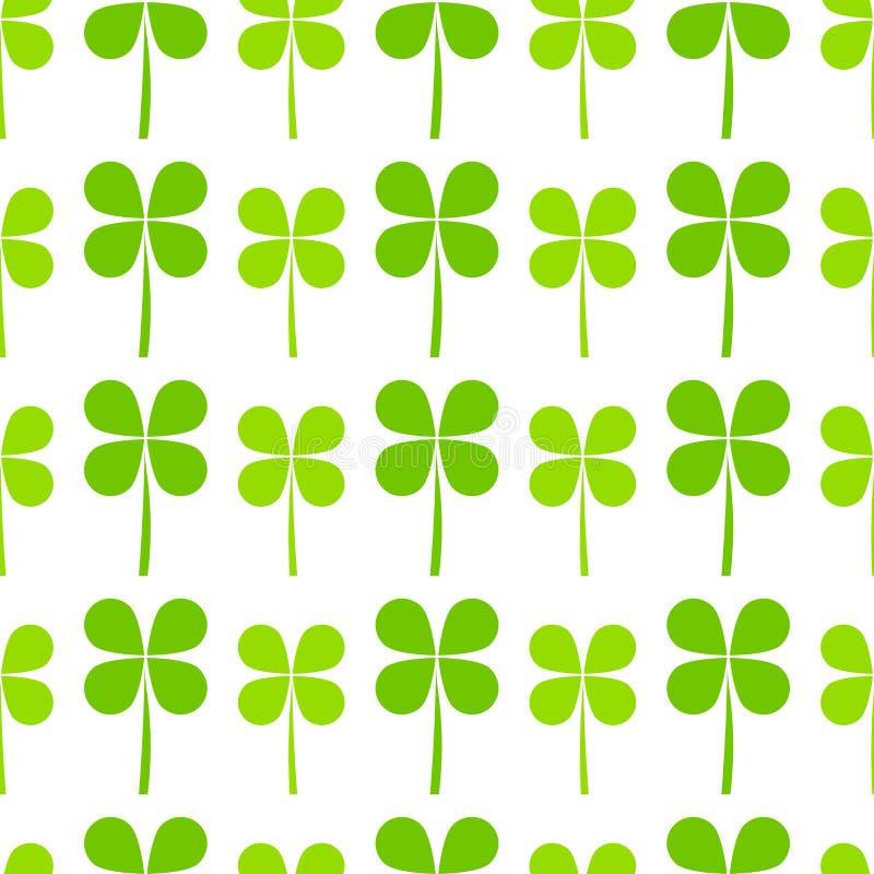 Green clover leaves pattern vector illustration