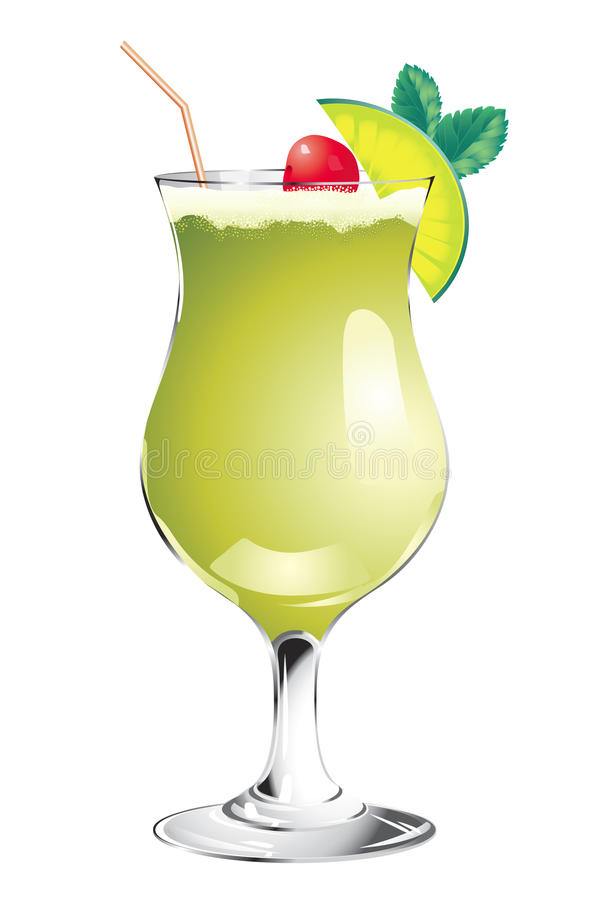 Download Green cocktail stock vector. Illustration of lime, green - 20919655