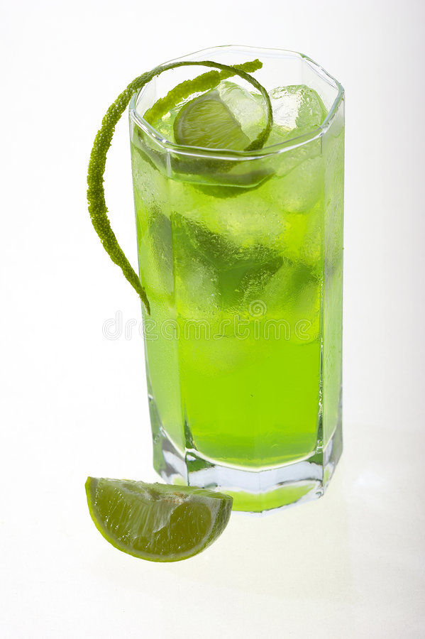 Green cocktail stock photography