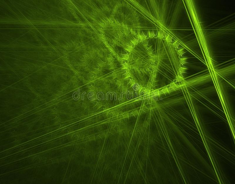 Green cogwheel royalty free stock photo