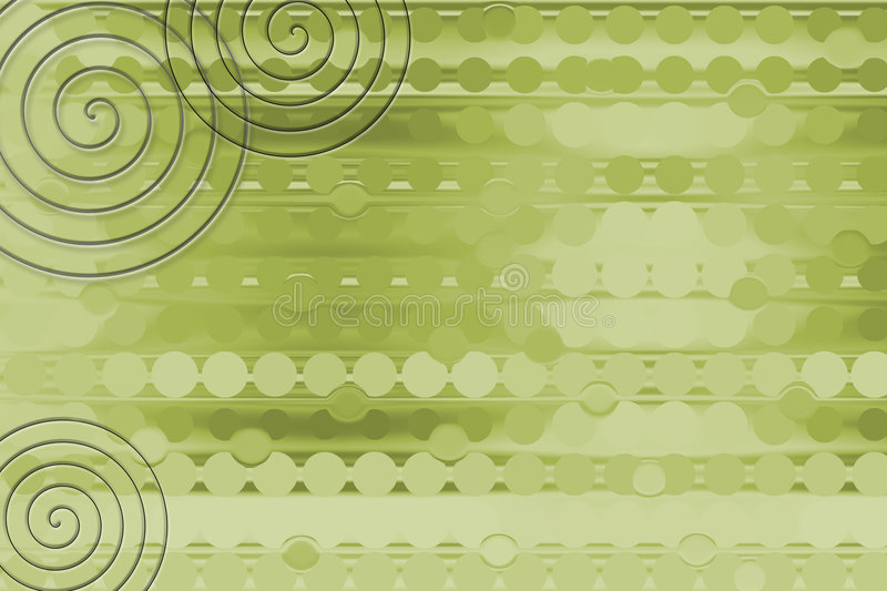 Green Coil Background Royalty Free Stock Photo