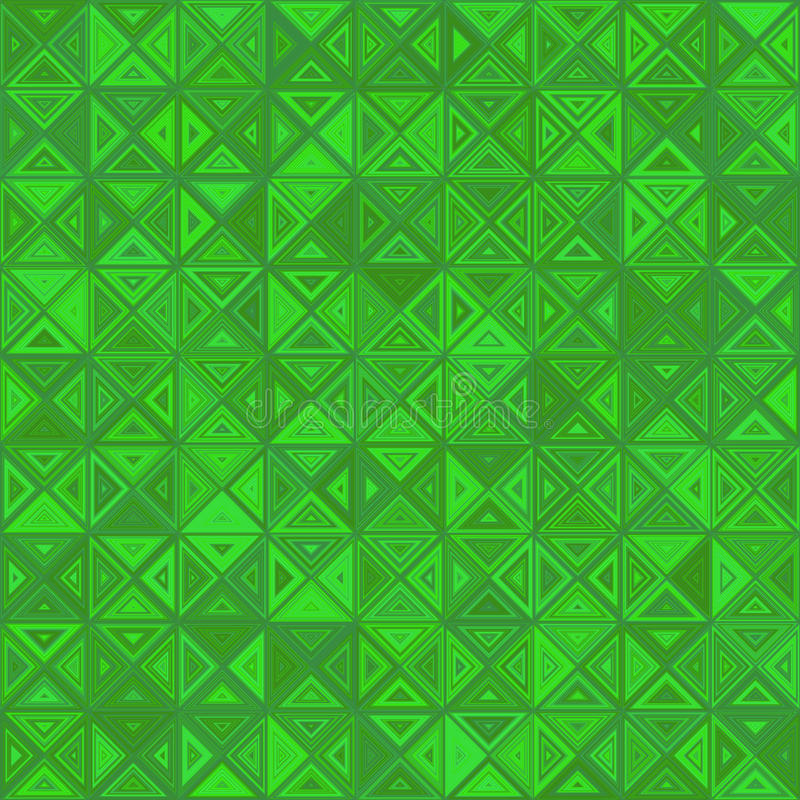 Green color abstract triangle mosaic background royalty free illustration