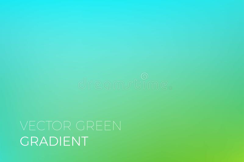 Green color gradient background vector backdrop design template eco nature ecology. Green color gradient background. Vector turquoise backdrop design template vector illustration