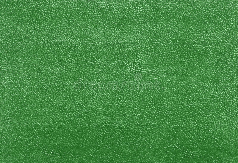 Green Color Leather Texture Stock Photo