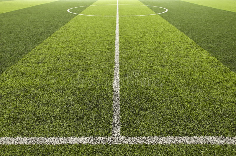 Green color Soccer field royalty free stock photography