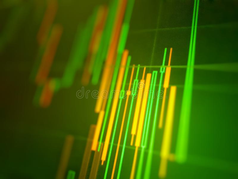 Green color of a stock exchange chart graph. Finance business background. Abstract stock. Martet diagram royalty free stock image