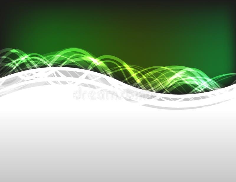Green Colored Energy Frame vector illustration